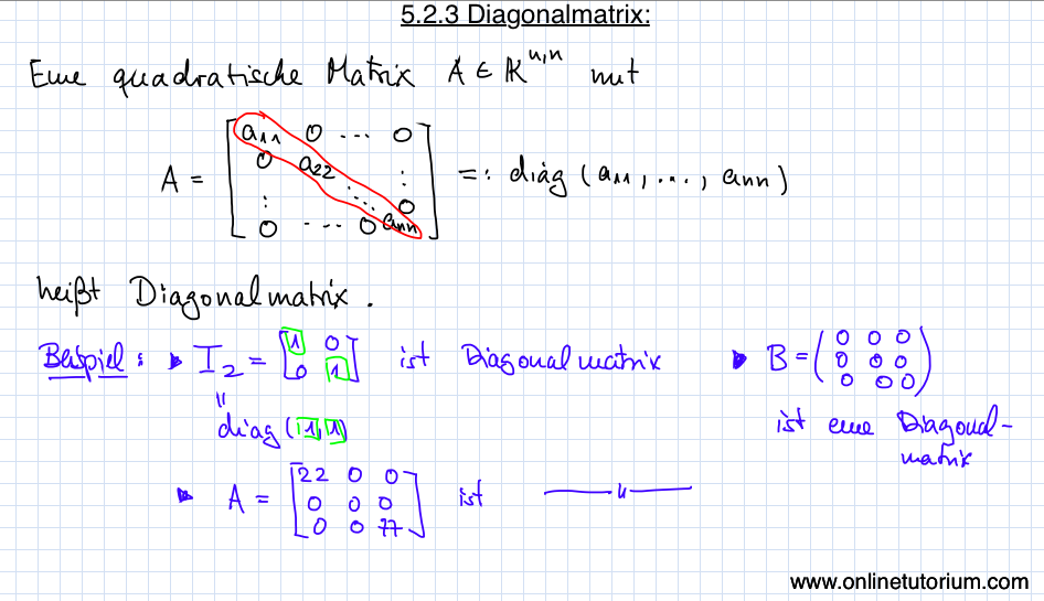5.2.3 Diagonalmatrix