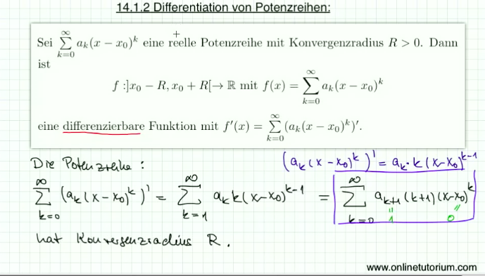 14.3 Differentiation von Potenzreihen
