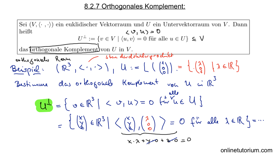 8.2.7 Orthogonales Komplement