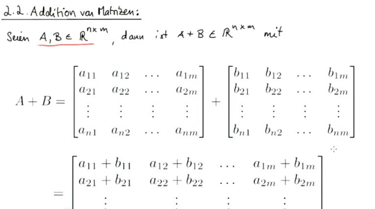 Mathematik Nachhilfe Videos, Vorlesungen & Übungen: I. Matrizen ...