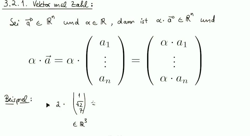 Mathematik Nachhilfe Videos, Vorlesungen & Übungen: II. Vektoren ...
