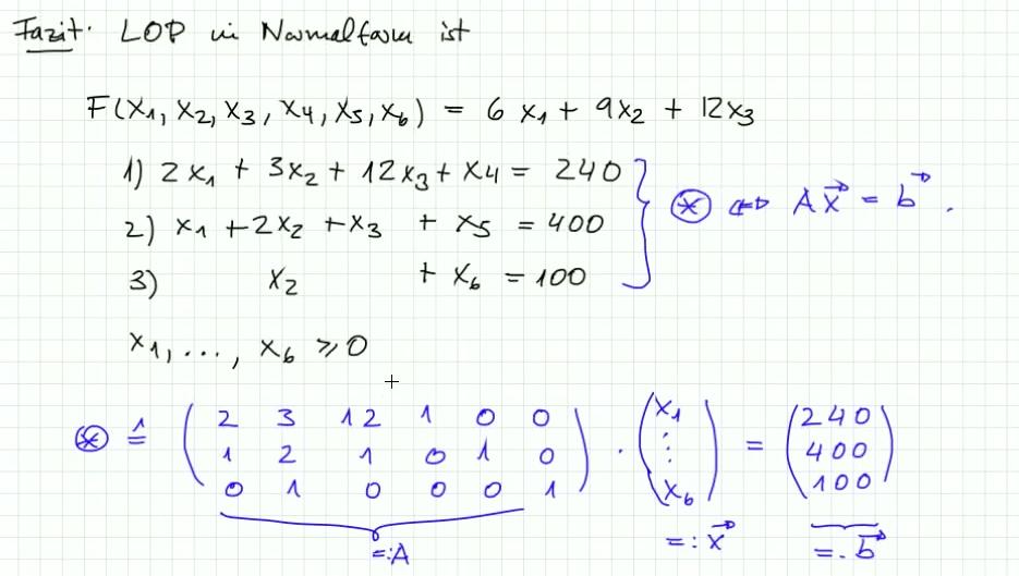 5.3.1 Aufgabe zur Normalform eine LOP