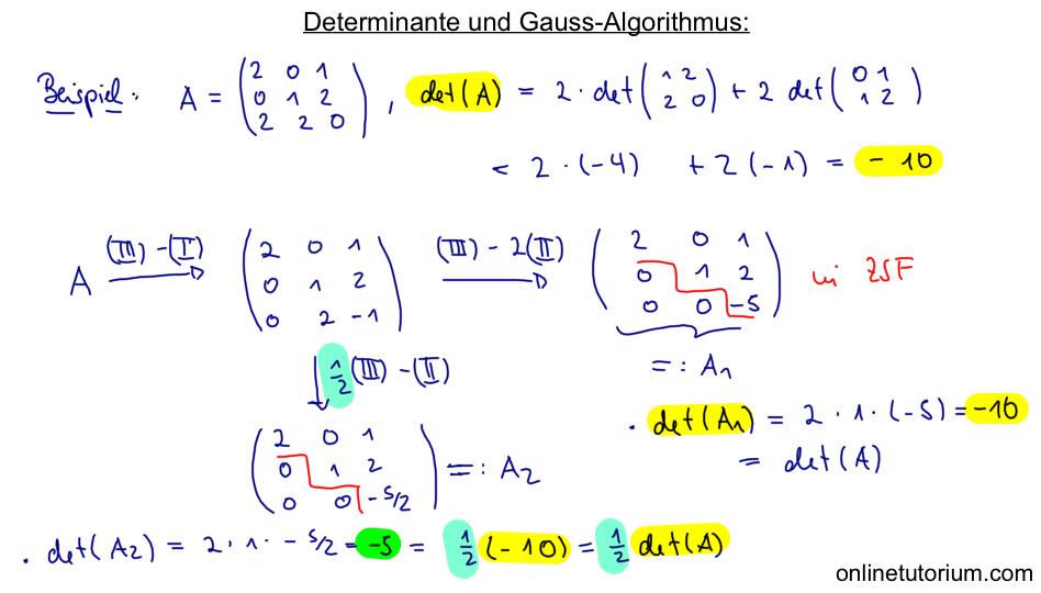 15 determinante und gauss algorithmus. Black Bedroom Furniture Sets. Home Design Ideas