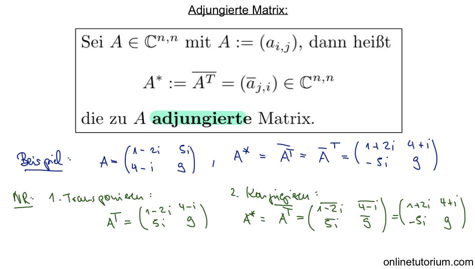 adjungierte matrix berechnen mathematik nachhilfe videos. Black Bedroom Furniture Sets. Home Design Ideas