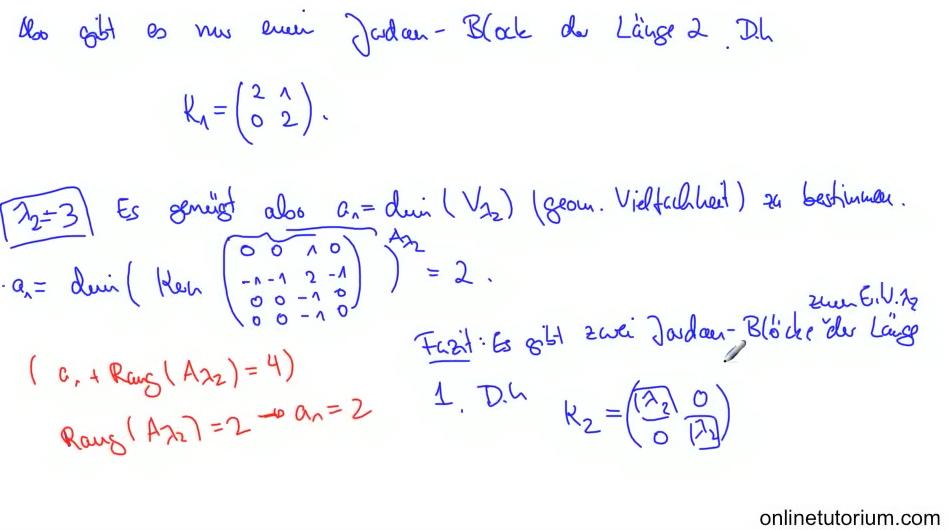 mathematik nachhilfe videos vorlesungen bungen xiii jordan normalform lineare algebra. Black Bedroom Furniture Sets. Home Design Ideas