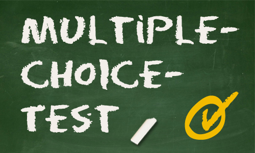 !!! MULTIPLE CHOICE TEST